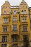 Historic houses in the centre of Prague Royalty Free Stock Photos