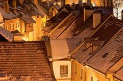 Historic Houses in Cesky Krumlov Stock Photo