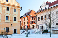Historic Houses in Cesky Krumlov Stock Photography