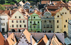 Historic houses in Cesky Krumlov Royalty Free Stock Photos