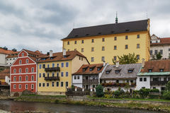 Historic houses, Cesky Krumlov, Czech republic Royalty Free Stock Image