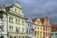 Historic houses, Cesky Krumlov, Czech republic Stock Images