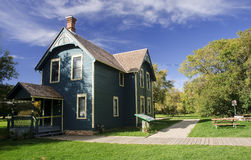 Historic houses in Edmonton on the Saskatchewan River - Canada Royalty Free Stock Images