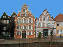 Historic houses in Germany. Old, historic townhouses in Stade; Stade is a town in Germany Stock Photos