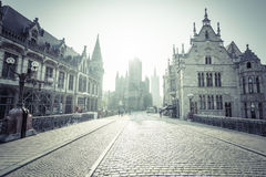 Historic houses in Ghent. Belgium royalty free stock photography