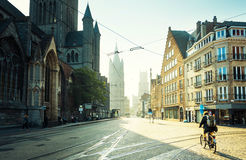 Historic houses in Ghent Royalty Free Stock Images
