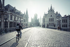 Historic houses in Ghent Royalty Free Stock Photography