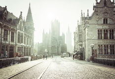 Historic houses in Ghent Stock Photography