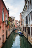 Historic houses of the Grand Canal in Venice. With cloudy sky Royalty Free Stock Photo