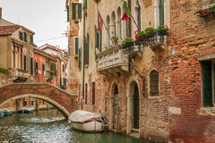 Historic houses of the Grand Canal in Venice Stock Photo