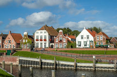 Historic houses in Greetsiel, Germany Stock Photos