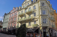 Historic houses in karlovy vary - Karlsbad, czech republic Royalty Free Stock Photos