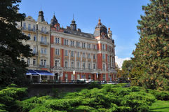 Historic houses in karlovy vary - Karlsbad, czech republic Royalty Free Stock Image