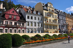 Historic houses in karlovy vary - Karlsbad, czech republic Stock Photography