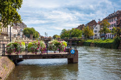 Historic houses in the La Petite France in Strasbourg Stock Images