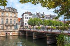 Historic houses in the La Petite France in Strasbourg Royalty Free Stock Photo