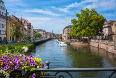 Historic houses in the La Petite France in Strasbourg Royalty Free Stock Photo