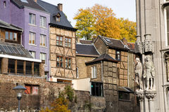 Historic houses, Liege, Belgium Royalty Free Stock Photography