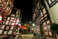 Historic houses limburg an der lahn germany at night Royalty Free Stock Photography