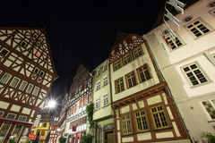 Historic houses limburg an der lahn germany at night. Some historic houses limburg an der lahn germany at night Stock Images