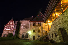 Historic houses limburg an der lahn germany at night Stock Photos