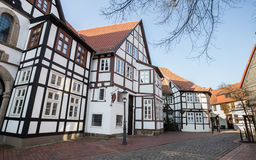 Historic houses in minden germany Royalty Free Stock Images