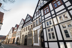 Historic houses in minden germany Royalty Free Stock Photography