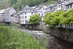 Historic houses in Monschau Royalty Free Stock Photo