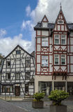 Historic houses in Monschau, Germany Stock Image