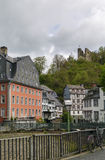 Historic houses in Monschau, Germany Stock Photography