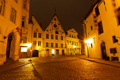 Historic Houses in the Old Town of Tallinn Royalty Free Stock Photo