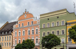 Historic houses in Straubing, Germany Stock Photography
