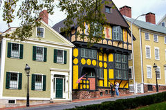 Historic Houses on Thomas Street, Providence, RI. Royalty Free Stock Image