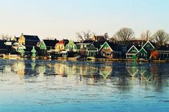 Historic houses in Zaanse Schans Village, Holland Royalty Free Stock Image