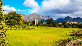 The historic Huguenot Monument in the town of Franschhoek Royalty Free Stock Photos