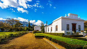 The historic Huguenot Museum building in the town of Franschhoek Stock Photos