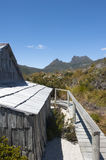 Historic Hut at Cradle Mountain Tasmania Stock Photo