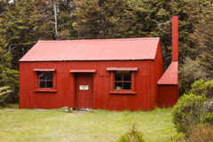 Historic hut in Tongariro National Park. In New Zealand Stock Images
