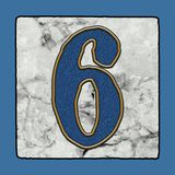 Historic Iconic Classic New Orleans Street Tiles Sidewalk Letter Alphabet Grunge Numbers & Symbols royalty free stock photography