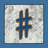 Historic Iconic Classic New Orleans Street Tiles Sidewalk Letter Alphabet Grunge Numbers & Symbols stock photo
