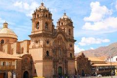 Historic Iglesia de Λα Compania Plaza de Armas Cusco ι Στοκ Εικόνα