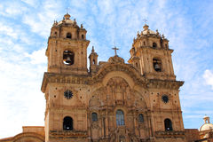 Historic Iglesia de la Compania in the Plaza de Armas of Cusco i Stock Photo