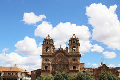 Historic Iglesia de la Compania in the Plaza de Armas of Cusco i Royalty Free Stock Photos