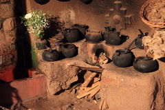 Historic Inca Kitchen Stock Photo