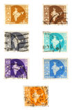 Historic India post stamps royalty free stock image
