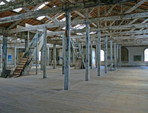 Historic interior. The interior of an historic grain and seed warehouse, Oamaru, South Island, New Zealand Royalty Free Stock Image