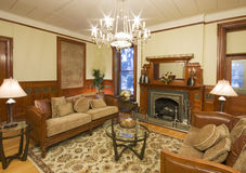 Historic interior livingroom. Luxury interior living room of a historic old building Stock Photography