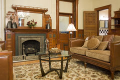 Historic interior livingroom. Luxury interior living room of a historic old building Stock Photos
