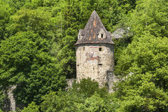 The historic internal curtain wall tower in Horb on the Neckar Stock Image