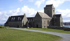 Historic Iona Abbey royalty free stock photography